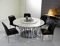 GDT6433意大利设计高档大理石圆餐桌