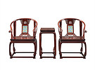红酸枝丨镶掐丝珐琅托泥圈椅