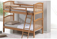 松木双层床/pine wooden bunk bed