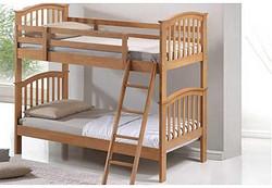 松木双层床/pine wooden bunk bed