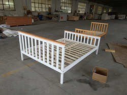 松木单人床/pine wooden  single  bed