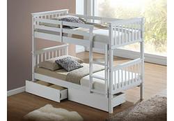 松木双层抽屉床/pine wooden bunk bedwith drawers