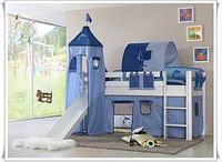 松木儿童帐篷床/pine wooden bunk bed