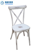 美式乡村交叉椅 咖啡厅餐厅金属叉背椅 TW8080