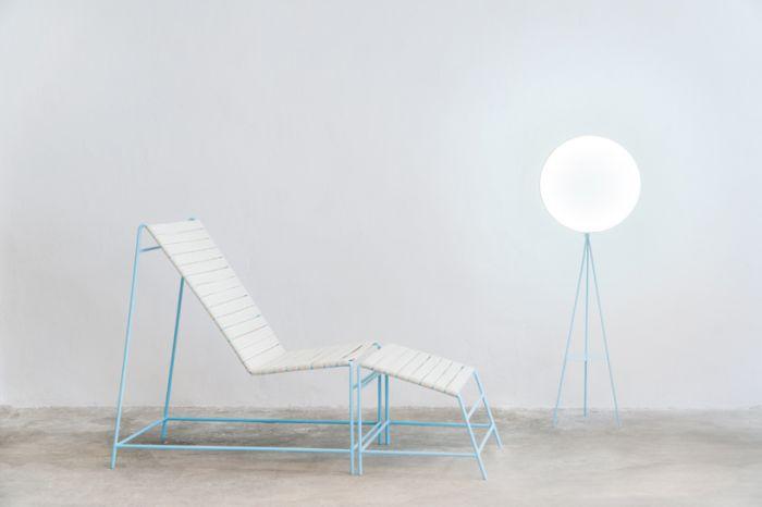 这个家具系列参加了致敬大卫·霍克尼的展览