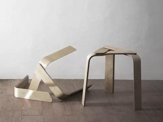 巧用磁铁 便于组装与移动的三角凳