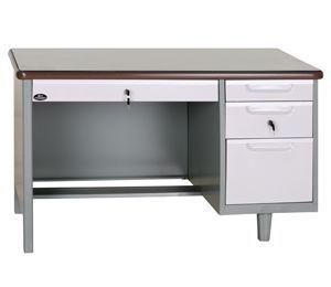 铁桌子单柜办公桌