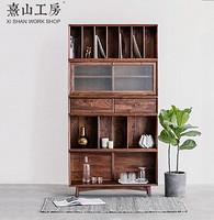 实木组合书柜