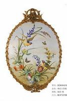 铜花枝小鸟大瓷板装饰画