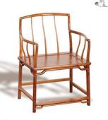 老榆木客厅三棱梳背官帽椅扶手椅