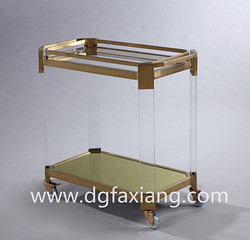 acrylic trolley