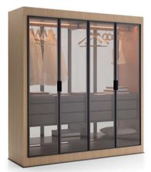HT183四门衣柜 Italian Minimalism Style Four-door Wardrobe