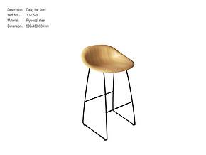 黛西吧凳 Scandinavian Solid Wood CHAIR 3D-C5-B