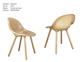 黛西椅 Scandinavian Solid Wood CHAIR 3D-C6