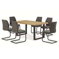 木纹纸贴面板式餐桌