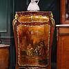 19世纪法国路易十五式带艺术家签名人物画角柜