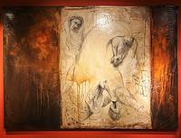 法国艺术家莱亚.里维埃(Lea Riviere)作品《蒙娜丽莎的眼睛》