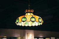 欧洲Tiffany style彩色玻璃艺术吊灯