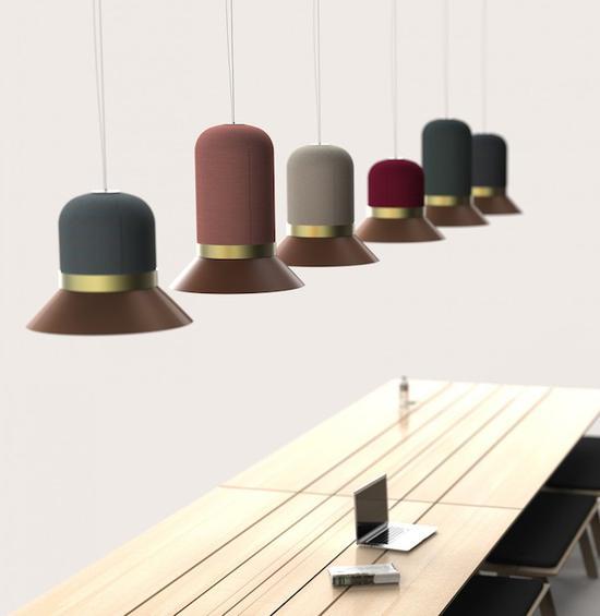 兼具照明与吸音的帽子灯 让空间更安静