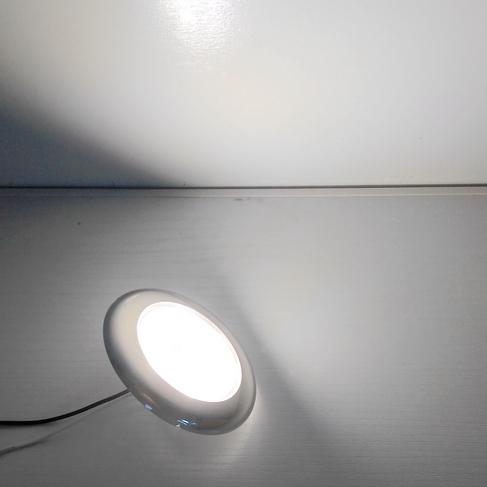 游艇灯旅居房车灯LED吸顶,冷白12V内顶灯DC低压,不锈钢表面安装