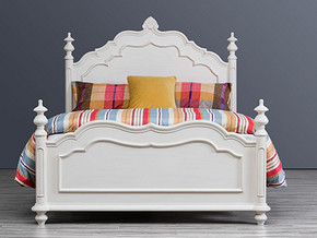 074 Classical style Bed