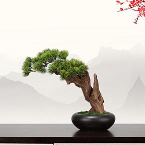 新中式仿真盆景花艺摆件FD1811-7