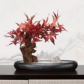新中式仿真盆景花艺摆件FD1811-8