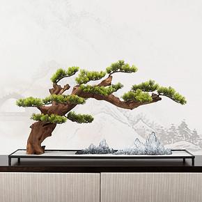 新中式仿真盆景花艺摆件FD1811-9