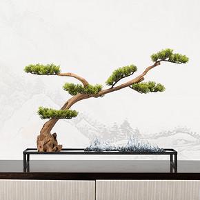 新中式仿真盆景花艺摆件FD1811-10