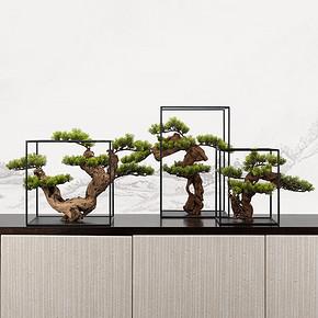新中式仿真盆景花艺摆件FD1811-12A