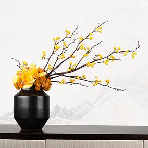 新中式仿真盆景花艺摆件FD1811-24