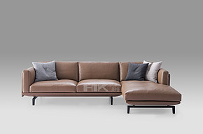 HB737A  Modern Italian Style Leather Sofa