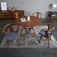 Modern light luxury simple solid wood chair Nordic fashion creative dining chair Designer casual business office cafe chair