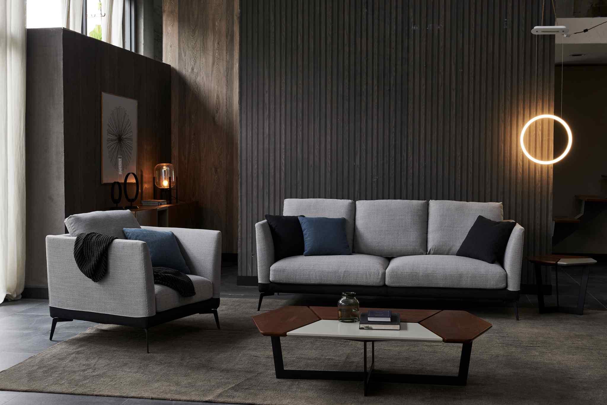 意式极简布艺沙发