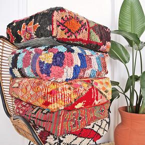 Roomology摩洛哥进口手工羊毛坐垫