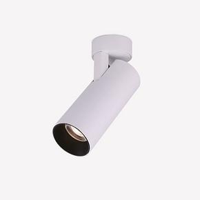 仙人掌先生LED明装灯防眩光客厅可调角射灯简约COB背景墙筒灯10W