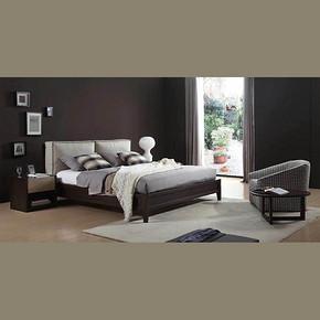 现代风格双人床实木床