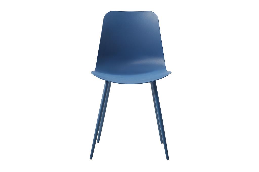 Plastic chair dark blue