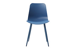 Plastic chair dark blue