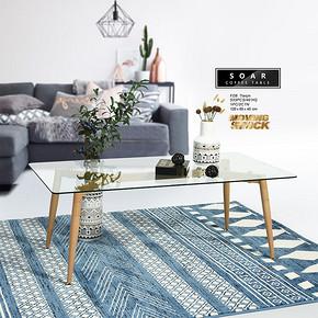 玻璃台木骨架茶几现代简约风 Modern minimalist style Coffee Table