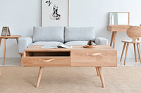 Solid wood simple storage coffee table original designer Japanese modern Chinese Nordic style furniture