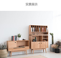 Stacked cabinet Japanese modern Chinese storage bookcase original design free combination cabinet