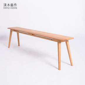 Long bench solid wood Japanese new Chinese dining table stool change shoe bench sofa bench bench bed end stool