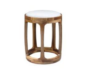 新中式 灵素圆凳